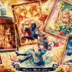 Пазл онлайн: Алиса в волшебной стране