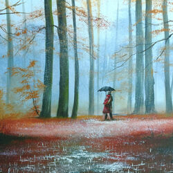Пазл онлайн: А мы встречали осень