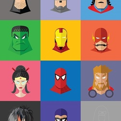 Пазл онлайн: Герои комиксов