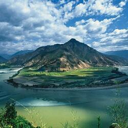 Пазл онлайн: Река Янцзи в Китае