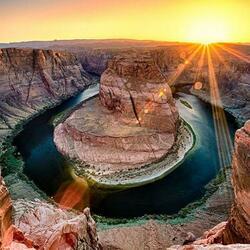 Пазл онлайн: Река Колорадо