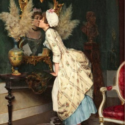 Пазл онлайн: Поцелуй отражения