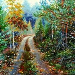 Пазл онлайн: Осенняя тропинка