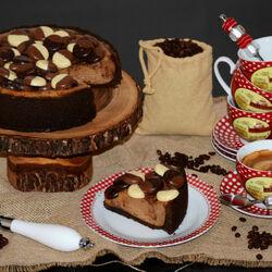Пазл онлайн: Кофе и шоколадный торт