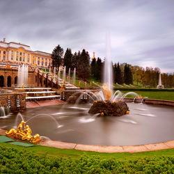 Пазл онлайн: Большой каскад Петродворца