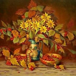 Пазл онлайн: Осенний букет