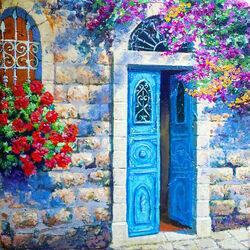 Пазл онлайн: Синяя дверь