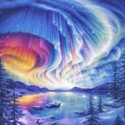Пазл онлайн: Волшебный север
