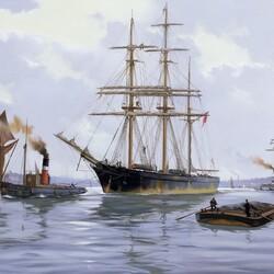 Пазл онлайн: В гавани