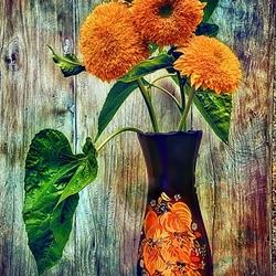 Пазл онлайн: Три цветка