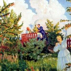 Пазл онлайн: Яблоневый сад
