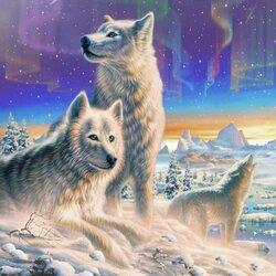 Пазл онлайн: Волки
