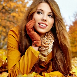 Пазл онлайн: Женщина-Осень