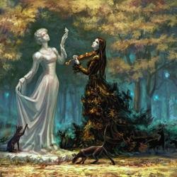Пазл онлайн: Мелодия осени