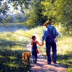 Пазл онлайн: На рыбалку