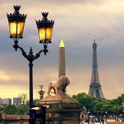 Пазл онлайн: Фонари Парижа