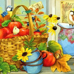 Пазл онлайн: Сентябрьские яблоки