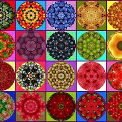 Пазл онлайн: Ягодный калейдоскоп