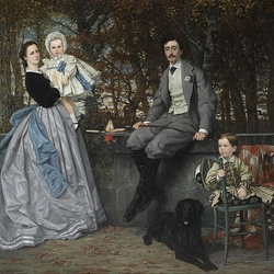 Пазл онлайн: Портрет маркиза и маркизы Miramon и их детей