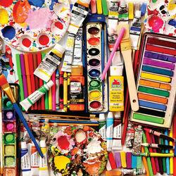 Пазл онлайн: Необходимое художнику