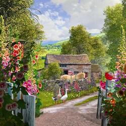 Пазл онлайн: Йоркширская ферма