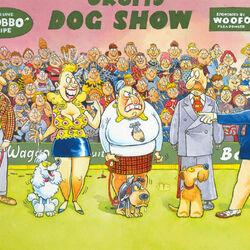 Пазл онлайн: Выставка собак