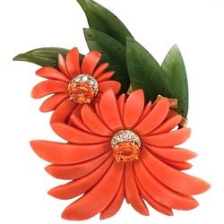 Пазл онлайн: Брошь Хризантемы