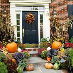 Пазл онлайн: Осеннее декорирование