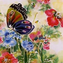 Пазл онлайн:  Бабочки и цветы