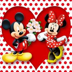 Пазл онлайн: Микки и Минни
