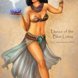 Пазл онлайн: Танец голубого лотоса