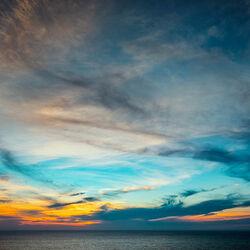 Пазл онлайн: Небо на закате