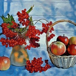 Пазл онлайн: Осенний натюрморт