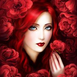 Пазл онлайн: Леди Роза