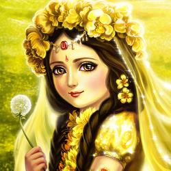 Пазл онлайн: Радха и цветы