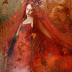 Пазл онлайн: Красная осень