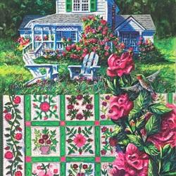 Пазл онлайн: Цветочное одеяло