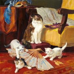 Пазл онлайн: Из жизни кошек