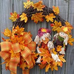Пазл онлайн: Осенний венок