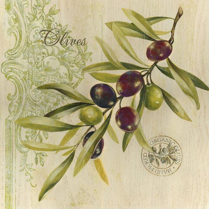 Декупаж с оливками