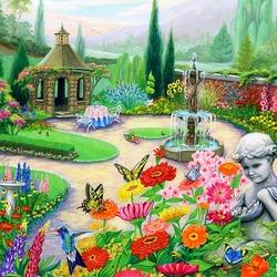 Пазл онлайн: Тайный сад