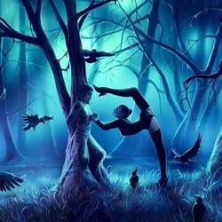 Пазл онлайн: В тёмном лесу