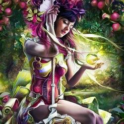 Пазл онлайн: Ней Мио, хозяйка фруктового сада