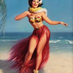 Пазл онлайн: Гавайская красавица