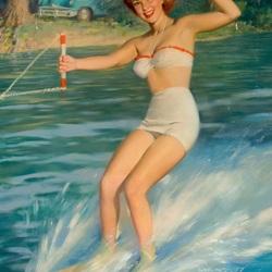 Пазл онлайн: Скользя по воде