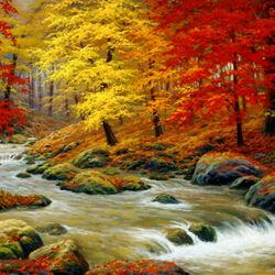 Пазл онлайн: Осенние берега