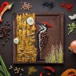 Пазл онлайн: Картина из овощей