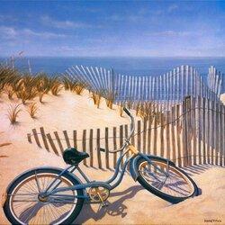 Пазл онлайн: Брошенный велосипед