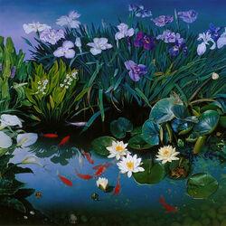 Пазл онлайн: Прекрасный пруд
