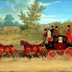 Пазл онлайн: Королевская почта на проселочной дороге